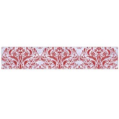 Damask1 White Marble & Red Denim (r) Large Flano Scarf  by trendistuff