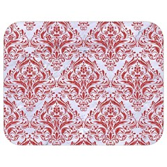 Damask1 White Marble & Red Denim (r) Full Print Lunch Bag by trendistuff