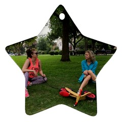 19688418 10155446220129417 1027902896 O   Walking With Daughter And Dog Ornament (star) by bestdesignintheworld