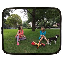 19688418 10155446220129417 1027902896 O   Walking With Daughter And Dog Netbook Case (large) by bestdesignintheworld