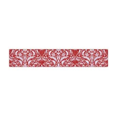 Damask1 White Marble & Red Denim Flano Scarf (mini) by trendistuff