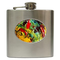 Yellow Chick 7 Hip Flask (6 Oz) by bestdesignintheworld