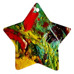 Yellow Chick 7 Star Ornament (two Sides) by bestdesignintheworld