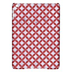 Circles3 White Marble & Red Denim (r) Ipad Air Hardshell Cases by trendistuff
