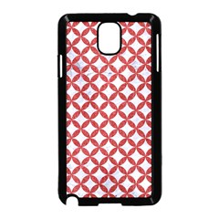 Circles3 White Marble & Red Denim (r) Samsung Galaxy Note 3 Neo Hardshell Case (black) by trendistuff