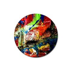 Untitled Red And Blue 3 Magnet 3  (round)