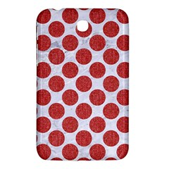 Circles2 White Marble & Red Denim (r) Samsung Galaxy Tab 3 (7 ) P3200 Hardshell Case  by trendistuff