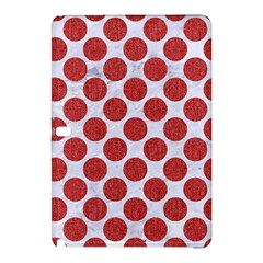 Circles2 White Marble & Red Denim (r) Samsung Galaxy Tab Pro 12 2 Hardshell Case by trendistuff