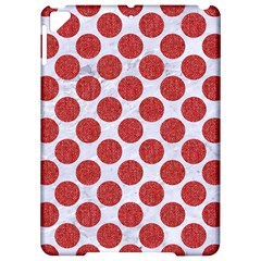 Circles2 White Marble & Red Denim (r) Apple Ipad Pro 9 7   Hardshell Case by trendistuff