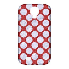 Circles2 White Marble & Red Denim Samsung Galaxy S4 Classic Hardshell Case (pc+silicone)