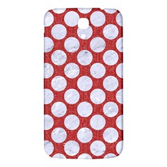 Circles2 White Marble & Red Denim Samsung Galaxy Mega I9200 Hardshell Back Case by trendistuff