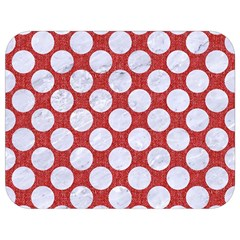 Circles2 White Marble & Red Denim Full Print Lunch Bag by trendistuff