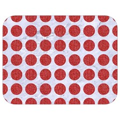 Circles1 White Marble & Red Denim (r) Full Print Lunch Bag by trendistuff