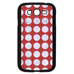 Circles1 White Marble & Red Denim Samsung Galaxy Grand Duos I9082 Case (black)