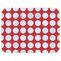 Circles1 White Marble & Red Denim Full Print Lunch Bag by trendistuff