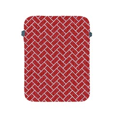 Brick2 White Marble & Red Denim Apple Ipad 2/3/4 Protective Soft Cases by trendistuff