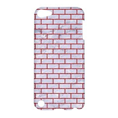 Brick1 White Marble & Red Denim (r) Apple Ipod Touch 5 Hardshell Case by trendistuff