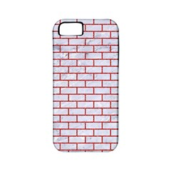 Brick1 White Marble & Red Denim (r) Apple Iphone 5 Classic Hardshell Case (pc+silicone) by trendistuff