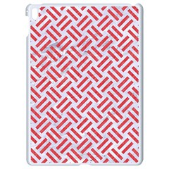 Woven2 White Marble & Red Colored Pencil (r) Apple Ipad Pro 9 7   White Seamless Case by trendistuff