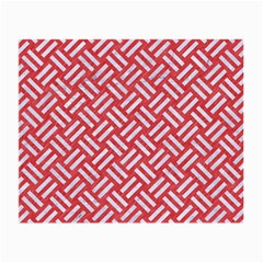 Woven2 White Marble & Red Colored Pencil Small Glasses Cloth by trendistuff