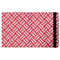 Woven2 White Marble & Red Colored Pencil Apple Ipad Pro 12 9   Flip Case
