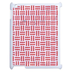 Woven1 White Marble & Red Colored Pencil (r) Apple Ipad 2 Case (white) by trendistuff
