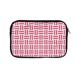 Woven1 White Marble & Red Colored Pencil (r) Apple Macbook Pro 13  Zipper Case by trendistuff