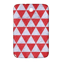 Triangle3 White Marble & Red Colored Pencil Samsung Galaxy Note 8 0 N5100 Hardshell Case  by trendistuff