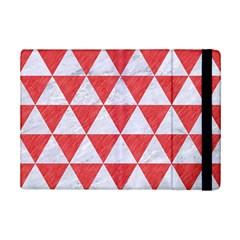 Triangle3 White Marble & Red Colored Pencil Ipad Mini 2 Flip Cases by trendistuff