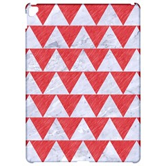 Triangle2 White Marble & Red Colored Pencil Apple Ipad Pro 12 9   Hardshell Case by trendistuff