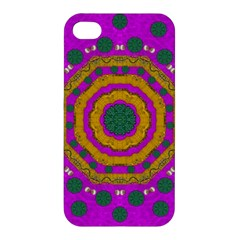 Peacock Flowers Ornate Decorative Happiness Apple Iphone 4/4s Hardshell Case by pepitasart