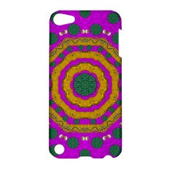 Peacock Flowers Ornate Decorative Happiness Apple Ipod Touch 5 Hardshell Case by pepitasart