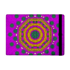 Peacock Flowers Ornate Decorative Happiness Apple Ipad Mini Flip Case by pepitasart