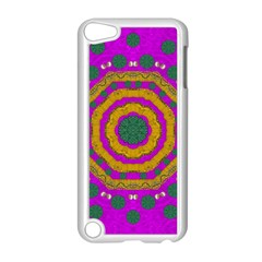 Peacock Flowers Ornate Decorative Happiness Apple Ipod Touch 5 Case (white) by pepitasart