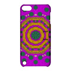 Peacock Flowers Ornate Decorative Happiness Apple Ipod Touch 5 Hardshell Case With Stand by pepitasart