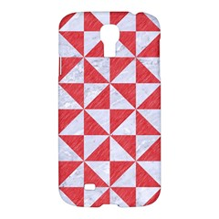 Triangle1 White Marble & Red Colored Pencil Samsung Galaxy S4 I9500/i9505 Hardshell Case by trendistuff