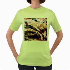 Egg In The Duck   Needle In The Egg 3 Women s Green T Shirt by bestdesignintheworld
