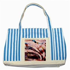 Egg In The Duck   Needle In The Egg 3 Striped Blue Tote Bag by bestdesignintheworld