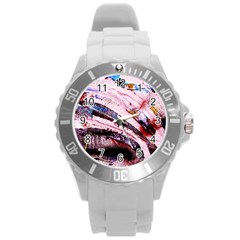Egg In The Duck   Needle In The Egg 3 Round Plastic Sport Watch (l) by bestdesignintheworld