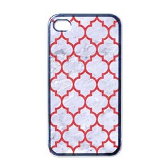Tile1 White Marble & Red Colored Pencil (r) Apple Iphone 4 Case (black)