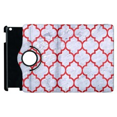 Tile1 White Marble & Red Colored Pencil (r) Apple Ipad 3/4 Flip 360 Case by trendistuff