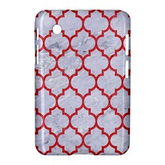 Tile1 White Marble & Red Colored Pencil (r) Samsung Galaxy Tab 2 (7 ) P3100 Hardshell Case  by trendistuff