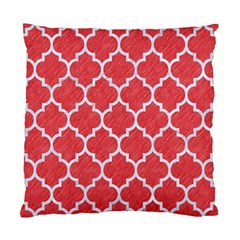 Tile1 White Marble & Red Colored Pencil Standard Cushion Case (one Side)