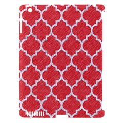 Tile1 White Marble & Red Colored Pencil Apple Ipad 3/4 Hardshell Case (compatible With Smart Cover) by trendistuff