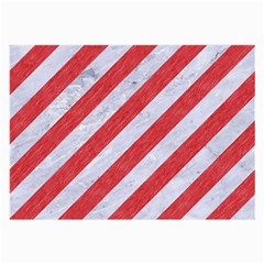 Stripes3 White Marble & Red Colored Pencil (r) Large Glasses Cloth by trendistuff