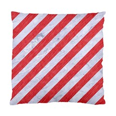 Stripes3 White Marble & Red Colored Pencil (r) Standard Cushion Case (two Sides) by trendistuff