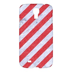 Stripes3 White Marble & Red Colored Pencil (r) Samsung Galaxy S4 I9500/i9505 Hardshell Case by trendistuff