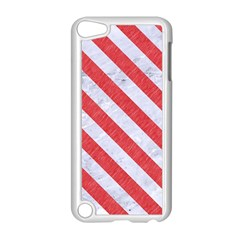 Stripes3 White Marble & Red Colored Pencil Apple Ipod Touch 5 Case (white) by trendistuff