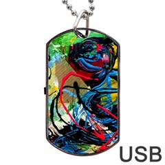 Rumba On A Chad Lake 4 Dog Tag Usb Flash (two Sides) by bestdesignintheworld