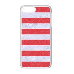 Stripes2white Marble & Red Colored Pencil Apple Iphone 7 Plus Seamless Case (white) by trendistuff